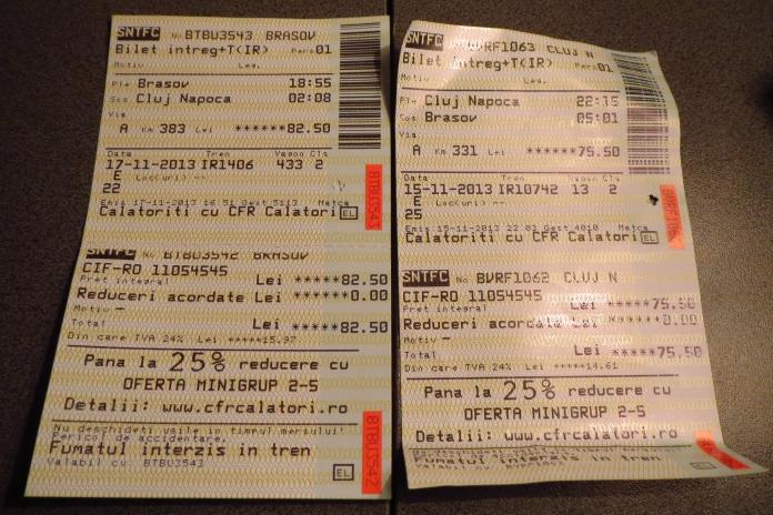 bilet CFT cluj-brasov si brasov-cluj